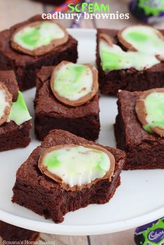 Rich and chewy brownies flavored with cocoa powder and a pinch of cinnamon, these cadbury brownies topped with oozing screme eggs will draw you in and captivate your attention