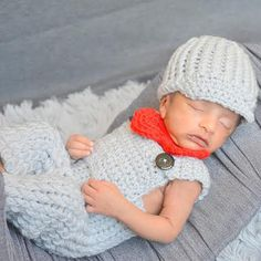 Newsboy Hat and Bowtie with Matching Overalls by simplyyarn27
