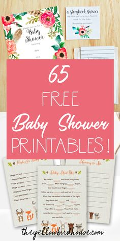 65 Free Baby Shower Printables for throwing an adorable party! Free printables include baby shower invitations, games and decor. These free printables for baby shower include woodland themes, nautical themes and both boy and girl color schemes Baby Shower Brunch, Fiesta Baby Shower, Classy Baby Shower, Free Baby Shower Printables, Free Baby Shower Games, Free Printables, Party Printables, Baby Shower Charades, Bany Shower Games