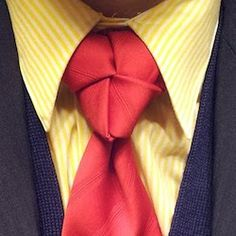 truelove knot on a red tie