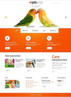 Joomla #template // Regular price: $75 // Unique price: $4500 // Sources available: .PSD, .PHP #Joomla #Responsive #Animals #Pets #Birds #Blog