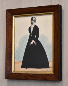 Antiques Atlas - Naïve Victorian Watercolour Portrait Watercolour Paintings, Watercolor Portraits, Gum Arabic, Naive, Folk Art, Victorian, Antiques, Antiquities, Watercolor Paintings
