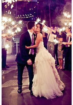 bengalas, boda, noche