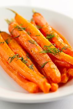 Roasted Maple Dilled Carrots and Shallots