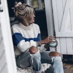 2019 Spring Women O Neck Striped Sweaters Loose Pullovers Sweaters Casual Knitted Sweater Jumper Price: 40.48 #fashion