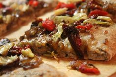 Recreation of Amy's Roasted Veggie Cheese-less Pizza (vegan)--this is fantastic!