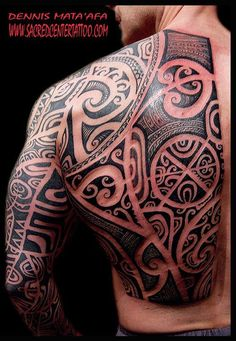 Back by Dennis at Sacred Center Tattoo #samoantattoosback