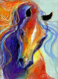 Stallion Horse Painting Fine Art Print