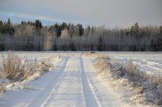 A snowy landscape in Finland. www.menolippumaalle.fi