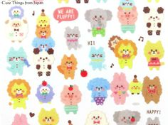 new-kawaii-animal-stickers from Japan only  £2.08