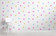 A child's bedroom is their own personal space within the house, and we think it's important that it is a happy and fun place to be. You can create an atmosphere of playfulness in your child's room with our Kids Watercolour Polka Dot Wallpaper, which features a tonedwhite background sprinkled with soft and charming purple,... Read more