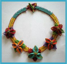 Shaped Beadwork, artist not acknowledged