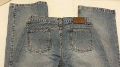 Womens Sz 2 /31 Calvin Kline Jeans light wash flare denim blue jeans #BlueLight #Flare