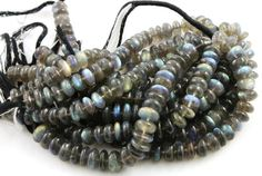 Natural Labradorite Smooth Large Roundels Size by Beadspoint, $39.99