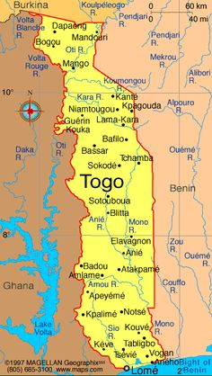 Togo Atlas: Maps and Online Resources | Infoplease.com