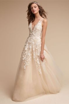Bhldn Harbor Gown In Bride Wedding Dresses Sleeves Bhldn