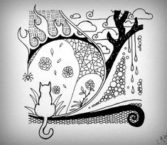 zentangle halloween colouring pages Tangle Doodle, Tangle Art, Doodles Zentangles, Zen Doodle, Doodle Art, Doodle Patterns, Zentangle Patterns, Doodle Drawings, Zentangle Drawings