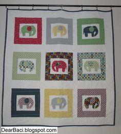 Image detail for -Nine Little Elephants Quilt