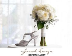Loved how the rim of rhinestones matched the bridal shoe.