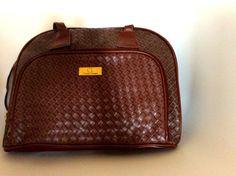 Sac vintage marron// porté épaule ou par LesPtitesPepees sur Etsy