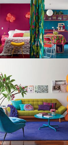 Blog Deco, Kid Spaces, Colorful Interiors, Bunt, Recycling, Sweet Home, Design Inspiration, Interior Design, Apartment Ideas
