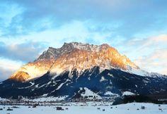 Zugspitze in Bayern / Deutschland