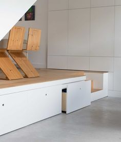 Saving space - podium  floor with drawers