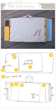 travel  desk with project instructions.  I would love to make this someday.