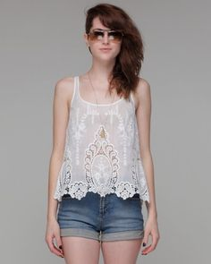 on the wishlist for spring. major lace love. shirt by Dolce Vita