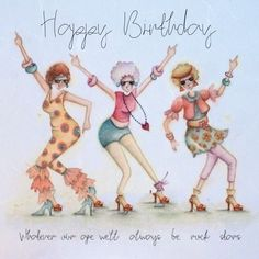Birthday Ecards for Females Happy Birthday Funny, Happy Birthday Sister, Happy Birthday Cards, Birthday Greetings, Birthday Humorous, Old Lady Humor, Birthday Wishes Quotes, Crazy Friends, Rock Chick