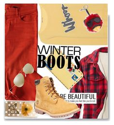 """""""boots"""" by shadow-12 ❤ liked on Polyvore featuring L.L.Bean, The Kooples, Vera Bradley, Casetify, Timberland, Juvia, Ray-Ban, STELLA McCARTNEY and polyvoreeditorial"""