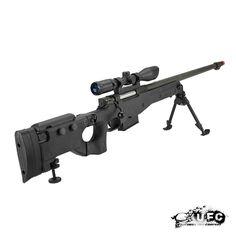 UFC AW338 Bolt Action Airsoft Sniper Rifle (Black) Airsoft Sniper, Airsoft Guns, Paintball Guns, Air Rifle, Military Guns, Black Dragon, Hunting Gear, Ufc, Firearms
