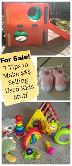 7 tips to help you turn your used kids' stuff into cash via @Catherine Moss | @Right Start Blog #kids #baby