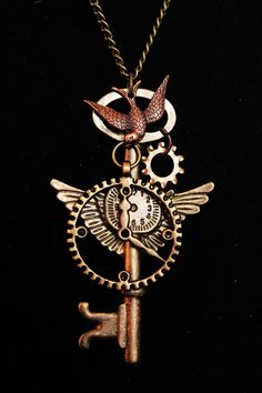 Cool steam punk necklace on Etsy