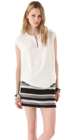Split V Top with Draped Back; Doo.Ri