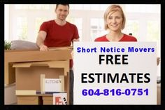West Vancouver in British Columbia Short Notice Movers