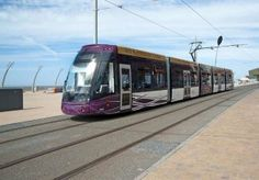 Blackpool Trams, Blackpool. Hanson's steel fibre reinforced concrete was used on this project, as it provides maximum resistance to heavy load vehicles.