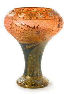 Daum vase - enameled & gilt cameo glass, circa 1900