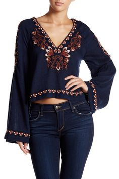 Free People - Embroidered Crop Tunic at Nordstrom Rack. Free Shipping on orders over $100.