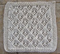 Dishcloth Patterns With   ... pattern, that knits up into a nice dishcloth. The Elfin Lace pattern