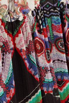 Roberto Cavalli - Printed Silk-georgette Maxi Dress - Purple - IT