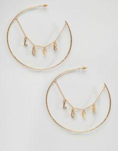 ASOS Love Hoop Earrings