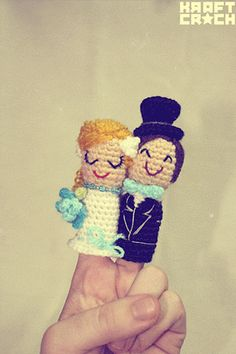 These would be cute as a photobooth prop -- looks pretty easy to crochet (no pattern though)