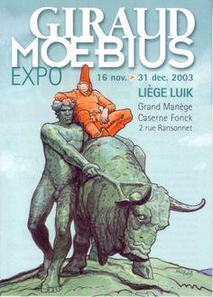 Giraud Moebius Expo 2003 (Poster art by Moebius), via Alain Laisseluisavoir