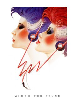 Syd Brak: Wired For Sound Folio illustration agency, London, UK 1980s influential airbrush artist
