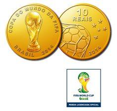 Moeda de Ouro Comemorativa Oficial da Copa do Mundo da FIFA Brasil 2014™