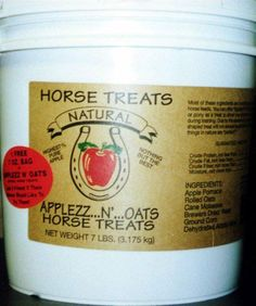 Applezz N-Oat Treat, 7 Lb Apple by Ohio Pet Foods. Save 8 Off!. $29.53. Due to the absence of binders, this clover shaped treat will not always be perfectly shaped; but then again, what things in n. You can offer applezz n oats to your horse or pony as a treat to show your affection or as a reward during training.. You can offer applezz n oats to your horse or pony as a treat to show your affection or as a reward during training. Due to the absence of binders, this clover sha...