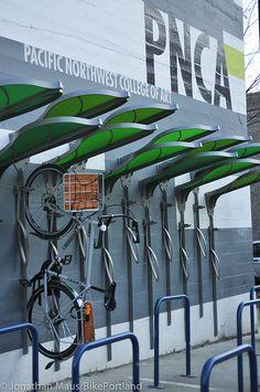 PNCA Bike Rack Designed by students