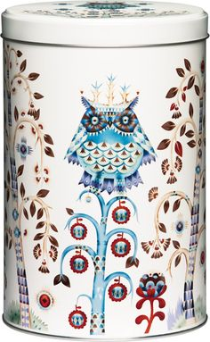 Iittala Taika White Tin An organizing essential that is both beautiful and versatile, the iittala Taika (Magic) Tin features the enchanting artwork of Klaus Haapaniemi. Iron Steel, Steel Metal, Metal Box, Frame Shelf, By Lassen, Shelf System, White P, White Backdrop, Scandinavian Living
