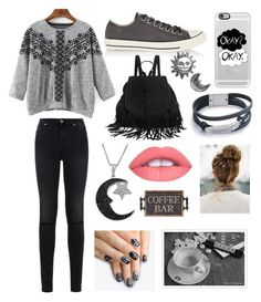 """Winter Coffee"" by aliciagamero02 ❤ liked on Polyvore featuring 7 For All Mankind, Converse, Casetify, Jewel Exclusive, Stefanie Sheehan Jewelry and alfa.K"